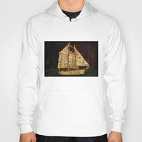sailboat Hoodies featuring Rustic Sailboat by Michael P. Moriarty