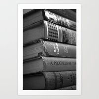 literature Art Prints featuring Literature by Lanie