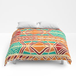 Tribal ethnic geometric pattern 027 Comforters