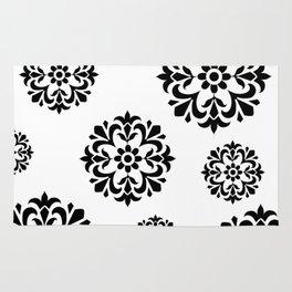 Black & White Flowers Rug