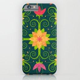 Nordic Traditional Floral (pattern) iPhone Case