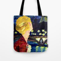 les mis Tote Bags featuring Enjolras in Paris les mis by Pruoviare