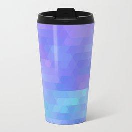 Athena, abstract geometric triangle mosaic - purple, aqua, lavender Travel Mug
