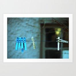 Clothesline Love Art Print