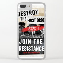Join The Resistance Clear iPhone Case
