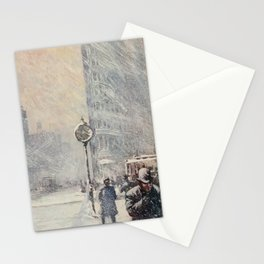 Lewis, Martin (1881-1962) - New York 1911 - A Blizzard, 23rd St & Broadway Stationery Cards