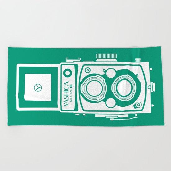 Yashica Mat 124G Camera Emerald Beach Towel
