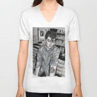alex turner V-neck T-shirts featuring Alex Turner tattoo by vooce & kat