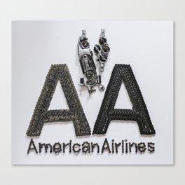 045: American Airlines - 100 Hoopies Canvas Print