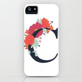 Floral Letter C iPhone Case