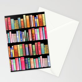 Vintage Book Library for Bibliophile Stationery Cards