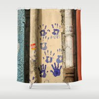 street art Shower Curtains featuring Street by Antonino Clemenza