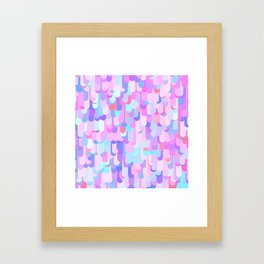 Jewel Tone Funky Abstract Framed Art Print