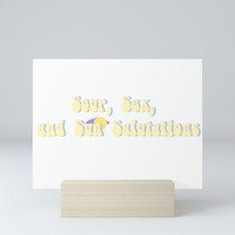 Soup, Sex, and Sun Salutations Mini Art Print