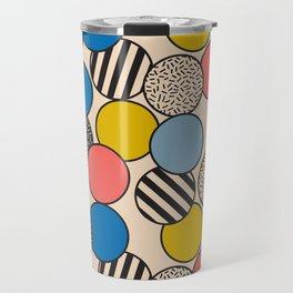 Memphis Inspired Pattern 5 Travel Mug