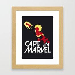 Captain Carol Danvers Framed Art Print