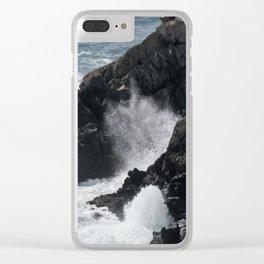 Waves Crashing on the Coast Clear iPhone Case