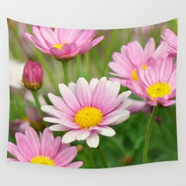 Daisy pink 090 Wall Tapestry