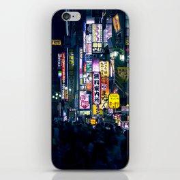 Neon Signs in Tokyo, Japan / Night City Series iPhone Skin