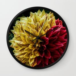 Yellow Red Wall Clock
