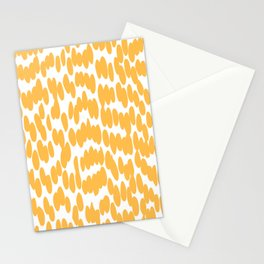 Tropical Sunshine, Summer Dot Pattern, Yellow and White Stationery Cards