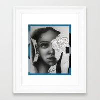 fka twigs Framed Art Prints featuring FKA TWIGS by nordacious