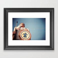 Native American Statue Framed Art Print