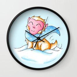Snowy Monkey Wall Clock