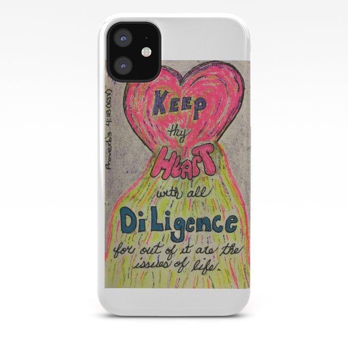 Proverbs 4:23 (KJV) iPhone Case
