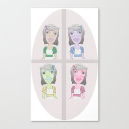 strange girl Canvas Print