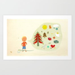Seasons Greetings Art Print