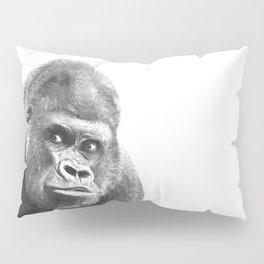 Black and White Gorilla Pillow Sham