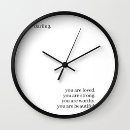 Darling, you are loved Wall Clock