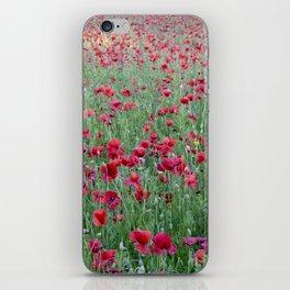 Bright poppies iPhone Skin