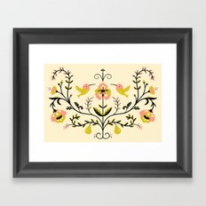 Hummingbirds and Pears Framed Art Print