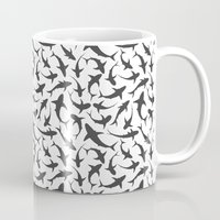sharks Mugs featuring Sharks by mjlomax