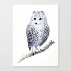 Snowy Fowl Canvas Print