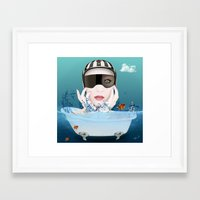 3d Framed Art Prints featuring 3D by mark ashkenazi