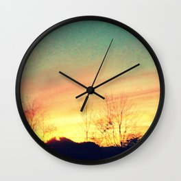 Country Sunset Wall Clock