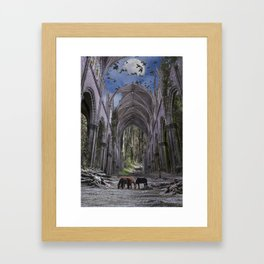 Church in forest Framed Art Print