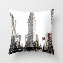Desaturated New York Throw Pillow