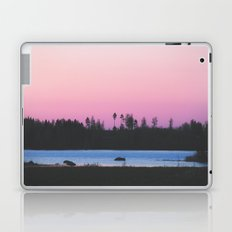 Pink skies over the lake Laptop & iPad Skin