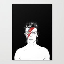 D. Bowie Tribute Canvas Print