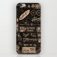 cycling iPhone & iPod Skins featuring Re. Cycling by NOT MY TYPE