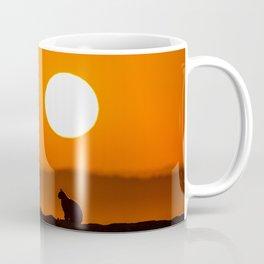 Early Morning Cat Coffee Mug