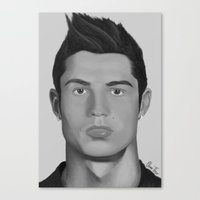 ronaldo Canvas Prints featuring Cristiano Ronaldo by OliverThor