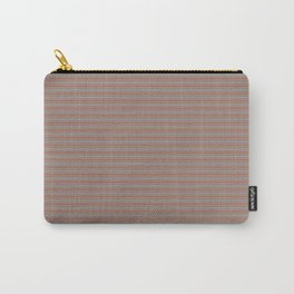 Cavern Clay Warm Terra Cotta SW 7701 Horizontal Line Patterns 2 on Slate Violet Gray SW9155 Carry-All Pouch