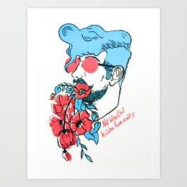 Rose Colored Glasses  Art Print