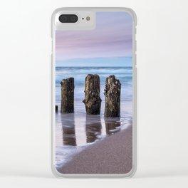 Groynes on the Baltic Sea coast Clear iPhone Case