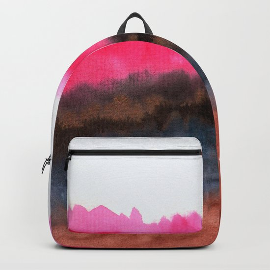 Watercolor abstract landscape 22 Backpack